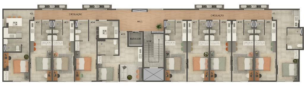Studio com 1 dormitório à venda, 20 m² por R$ 151.125 - Cabo Branco - João Pessoa/PB