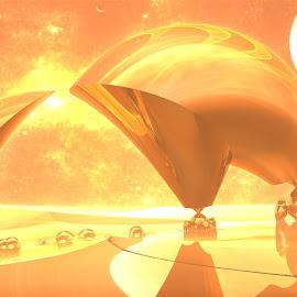 Mirage on Vega Six by Ricky Jarnagin - Illustration Sci Fi & Fantasy ( fantasy, abstract, ricky jarnagin, mandelbulb, dsynegrafix, 3d art, sci-fi, fractal )