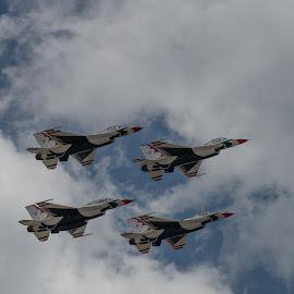 Air Force Thunderbirds by Curtis Lovett - Transportation Airplanes ( air force academy, flight, graduation, colorado springs, colorado, thunderbirds )