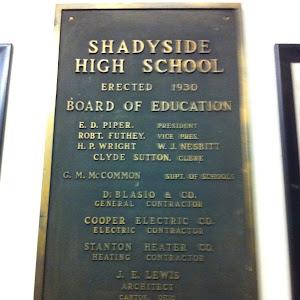 SHADYSIDEHIGH SCHOOLERECTED 1930