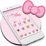 Kitty Pink Princess Cat Bow Icon