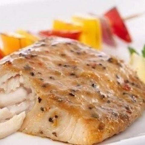 Slimming, 0% fat. Baked Pollock with lemon