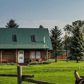 59th Annual Teamsters Wagon Train by Julie Wooden - Buildings & Architecture Homes ( animals, north dakota, nature, horses, event, sunny, outdoors, summer, new salem, scenery, people, 59th annual teamsters wagon tra )