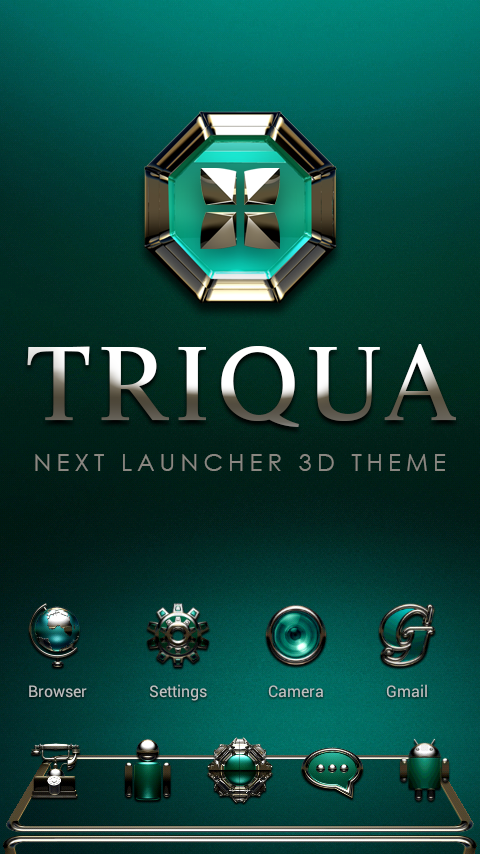TRIQUA Next Launcher 3D Theme Screenshot 0