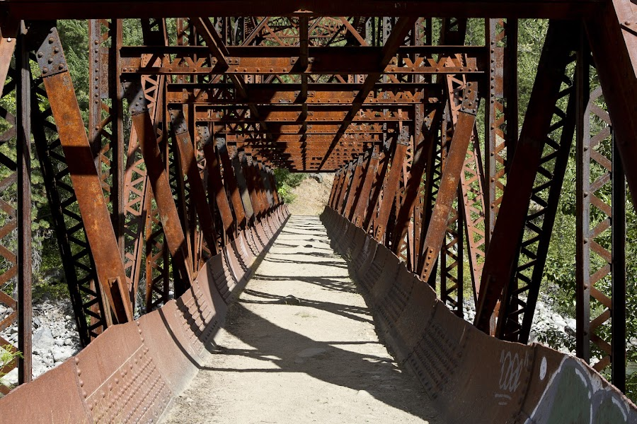 Bridge over the Winatchee River by John Williams - Buildings & Architecture Bridges & Suspended Structures ( winatchee river, bridge, leavenworth washington )