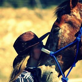 It's a secret ... by Desiree Havenga - Animals Horses ( whisper, horses, horse, cowgirl,  )