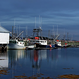 ALONG SIDE by Gary Colwell - Transportation Boats ( nova scotia, boats )