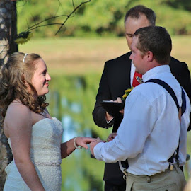 Beautiful wedding outside! by Terry Linton - Wedding Ceremony