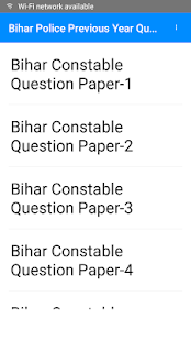 GK, Previous Q.Sets, Sample papers Bihar Police