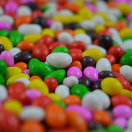 Miniature sweets by Madhumita Das - Abstract Macro ( abstract, colour, sweet, color, food,  )