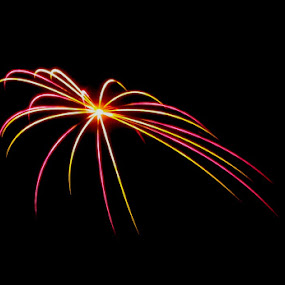 Fireworks 2 by Relu Jianu - Public Holidays July 4th ( magenta, white, fireworks, long exposure, yellow, july 4 )