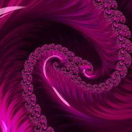 Dark n Pink by Capucino Julio - Illustration Abstract & Patterns ( abstract, dark, pink, fractal, design )
