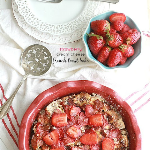 Strawberry Cream Cheese French Toast Bake