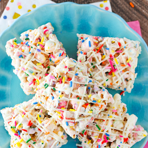 Funfetti Marshmallow Popcorn Treats