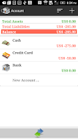 Screenshot of AndroMoney ( Expense Track )