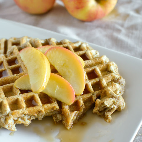 Whole Wheat Apple Ginger Waffles 4 - 6 large waffles
