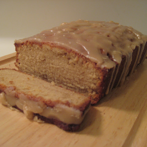 Brown Sugar Pound Cake with Caramel Glaze