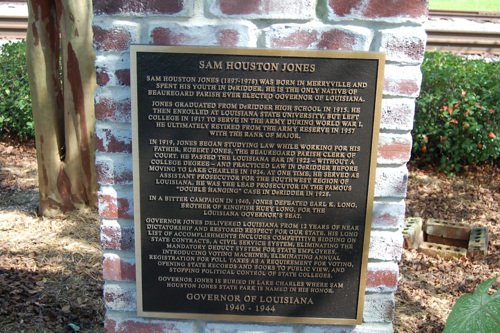 Sam Houston Jones   Sam Houston Jones (1897 -1978) was born in Merryville and spent his youth in DeRidder. he is the only native of Beauregard Parish ever elected Governor of Louisiana. Jones ...