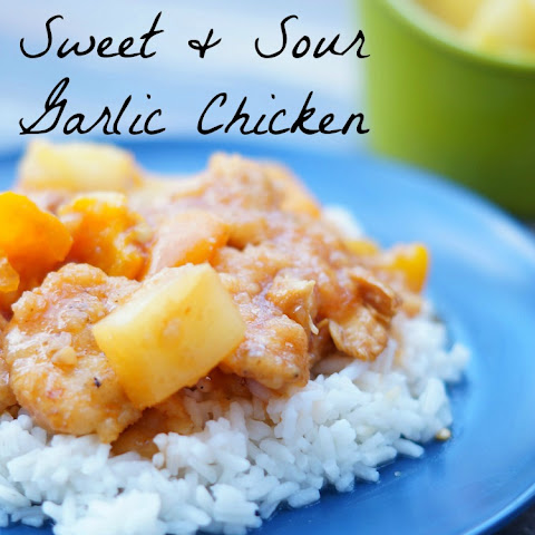 Slow Cooker Sweet and Sour Garlic Chicken