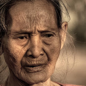 sadness by Budi Cc-line - People Portraits of Women ( indonesia, senior citizen )