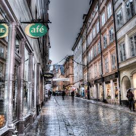 Old Town by Paul Ruane - City,  Street & Park  Street Scenes ( sweden, stockholm, swedish, old town, gamla stam, street scene, scandanavia )