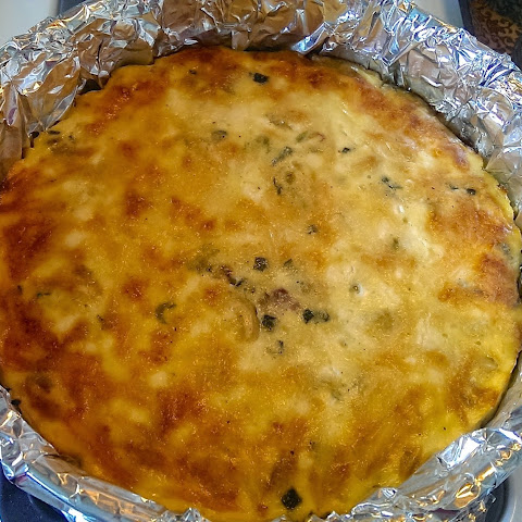 Crustless Goat Cheese & Caramelized Onion Quiche