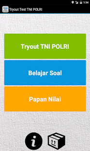 Tryout Test TNI POLRI Screenshot