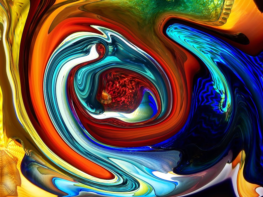 In the Womb by Vijay Govender - Digital Art Abstract ( abstract, birth, life, womb )