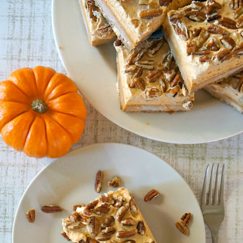 Pumpkin Chiffon and Pecan Pie Bars