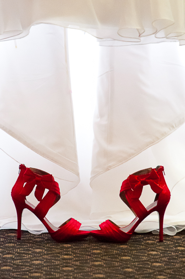 the shoes by Priscilla Chan - Wedding Details ( shoes, red, bride )