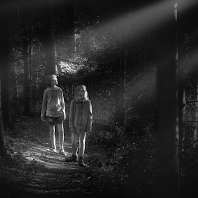 Light in the forest by Malcolm Hare - People Family (  )