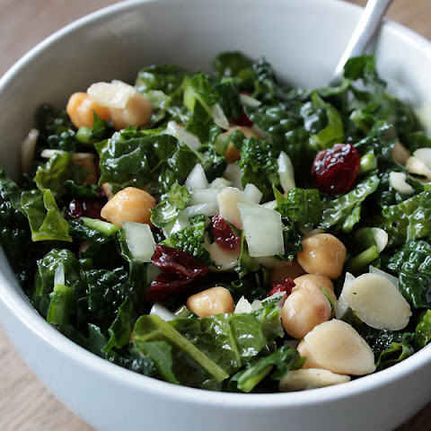 Raw Kale And Chickpea Salad