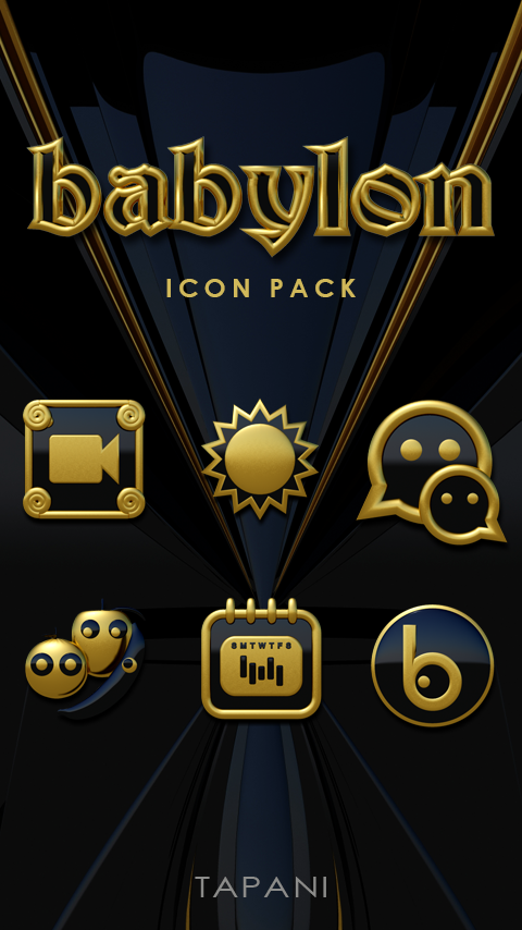 Babylon gold blue ICON PACK Screenshot 0
