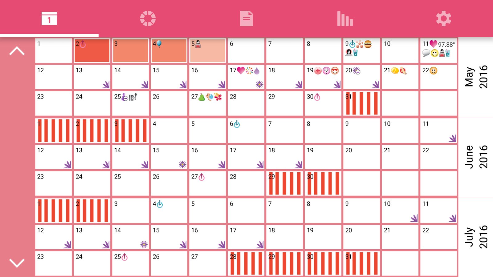 WomanLog Pro Calendar Screenshot 7