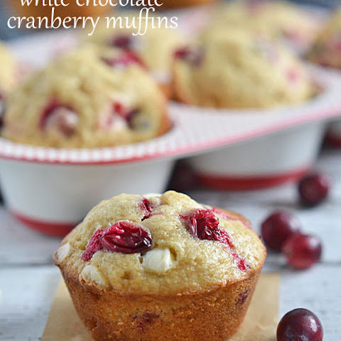 White Chocolate Cranberry Muffins