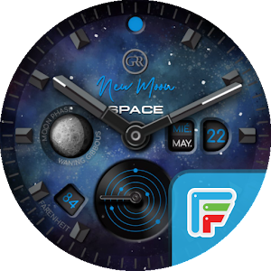 GRR | NEW MOON SPACE Watch Face For PC / Windows 7/8/10 / Mac – Free Download