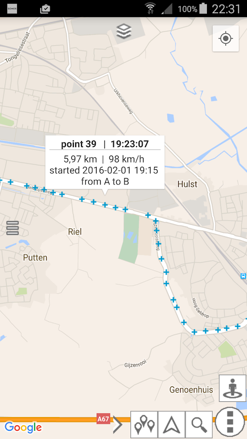 myRouteMap Screenshot 11