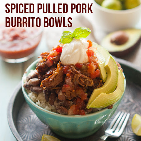 Gluten Free Chili Spiced Pulled Pork Burrito Bowls