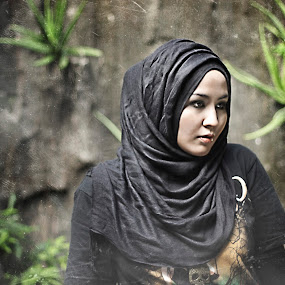 black hijab 2 by Budie Deathlust - People Portraits of Women