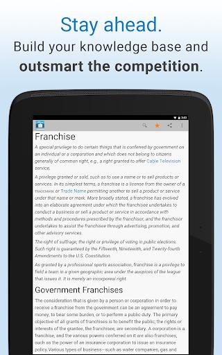 Business Dictionary by Farlex - screenshot