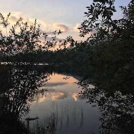 Sunset  by Mari Garmash - Instagram & Mobile iPhone ( nature, sunset, lake )