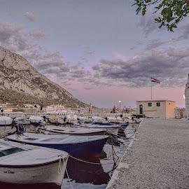 Evening walk by Bojan Bilas - City,  Street & Park  Neighborhoods ( port, sunset, neighborhood, croatia, gradac, evening )
