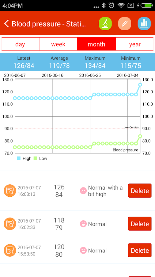 iCare Blood Pressure Pro Screenshot 4