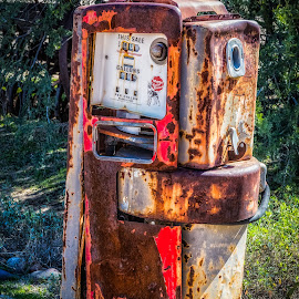 Old Gas Pump by Dave Lipchen - Artistic Objects Industrial Objects ( old gas pump )