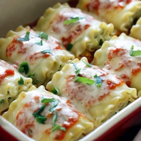 Three-Cheese Zucchini Lasagna Rolls