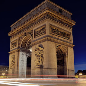 arc by Herry Wibisono - Buildings & Architecture Statues & Monuments ( paris, arc de triomphe, monument, france, night shot )
