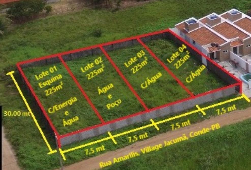 Terreno à venda, 225 m² por R$ 25.000,00 - Village - Conde/PB