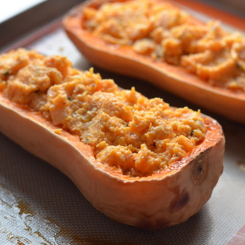 Twice-Baked Butternut Squash with Ricotta and Sage