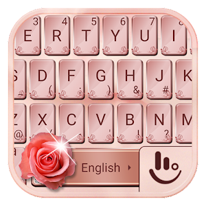 Keyboard Theme For Rose Gold OS 11