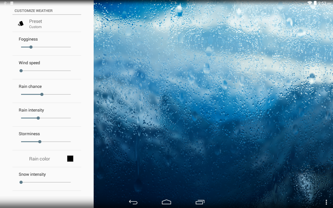 Rainpaper Screenshot 7